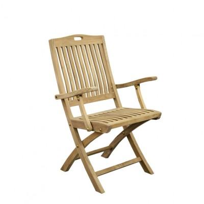 """Krzesło Teak """"RIBU"""" z podłokietnikami"""