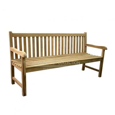 Teak ławka z prostym oparciem (200cm)