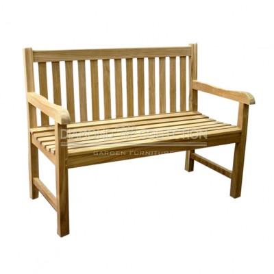 Teak ławka z prostym oparciem (150cm)
