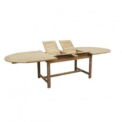 Teak stół owalny rozkładany 220-300-120