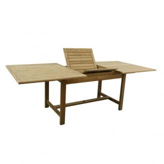 Teak stół prostokątny rozkładany 180-240-105