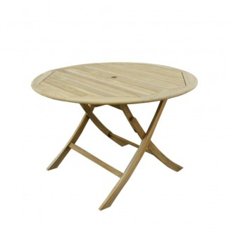 Teak Stół okrągły (80cm)